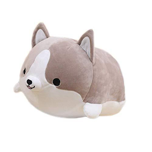 Welpen Shiba Inu Plüsch Gefüllte Weiche Kissen Puppe Anime Cartoon Doggo Nette Shiba Stofftier Geburtstagsgeschenk by Vovotrade (Grau, 18*15*10 cm)