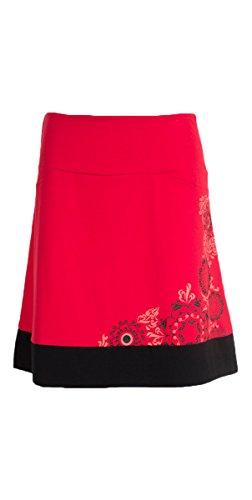 Coline - Jupe courte à fleurs Rouge