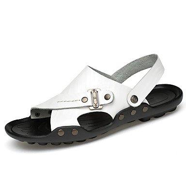 Los hombres Sandals Summer Light Soles PU Negro Blanco Amarillo Marrón ocasional US11 / EU44 / UK10 / CN46