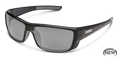 Suncloud Lock Polarized Sunglasses, Black, Gray