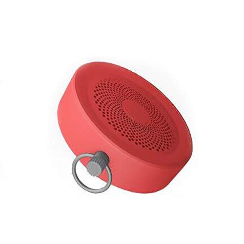 WangLx speakers Bluetooth-Lautsprecher Mit Lanyard Outdoor Tragbarer Fahrrad-Subwoofer TWS Doppelte Verbindung Drahtlose Runde Computer-Lautsprecher Kleine und Bequeme Freisprecheinrichtung, Red (Computer-lautsprecher-runde)
