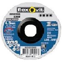 Flexovit 66252829279 Disco de Corte y Desbaste de Pequeño Diámetro, BF 27, A 30 S-BF27, 76 mm D x 7.0 mm T x 10.0 mm B, Set de 50