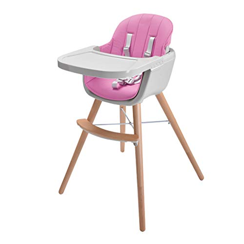 Chaise de sécurité en Bois, Chaise de Repas Multifonction pour bébé, Chaise Haute Ergonomique, Chaise de Salle à Manger Portable pour Enfants