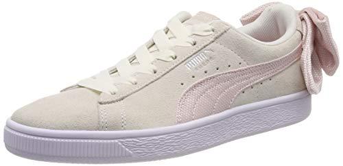 Puma Damen Suede Bow Hexamesh WN's Sneaker, Weiß (Marshmallow-Pale Pink), 39 EU -