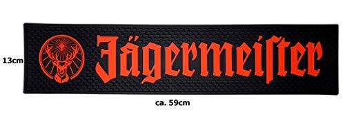 Jägermeister Barmatte Gummimatte Bar Unterlage Untersetzer - schwarz