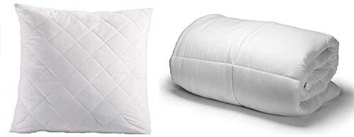 Amazinggirl Hypoallergen Ganzjahresdecke 135X200cm und Kopfkissen 70x80 cm Set Weiß Bettdecke aus Microfaser für allergiker (Weiß Kissen + Bettdecke Set, 135x200 + 70x80 cm)