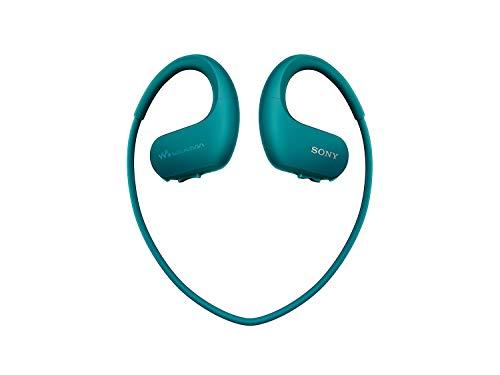 Sony NW-WS413 | Lettore musicale Walkman sportivo All in One 4GB, Impermeabile all'acqua salata, Resistente a polvere e sabbia, Funzionante tra -5°C e +45°C,  Ambient sound mode, Blu