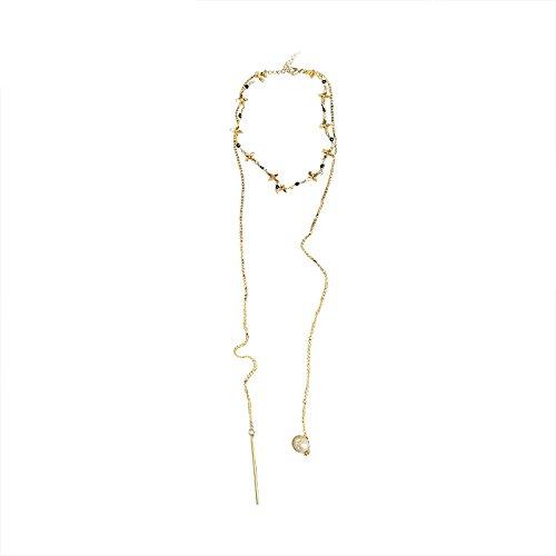 GAOQQ Lange Geometrische Perlenkette Einfache Verzierung Antike Accessories