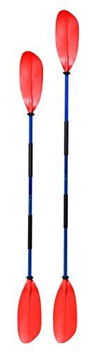 Asymmetrisches Kajak Paddel 2-teilig , Farbe:rot;Länge:210cm