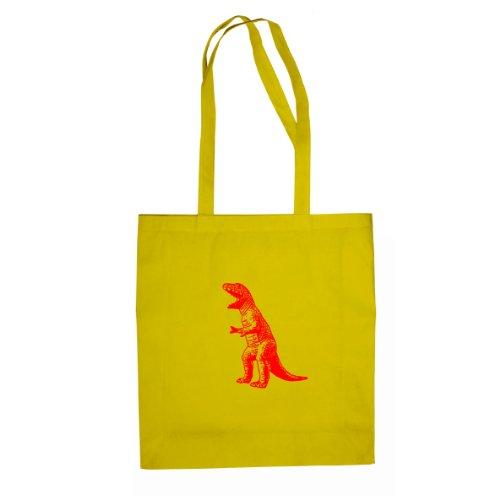 TBBT T-Rex Dinosaur - Stofftasche / Beutel Gelb