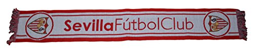 Sevilla CF Bufsev Bufanda Telar, Rojo / Blanco, Talla Única