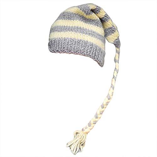Kostüm Babys Handgemachte - Lorsoul Baby-Kappen-Baby-Hut Niedlicher Handgemachte Knit Soft-Taking Foto Fotografie Long Tail-Kostüm