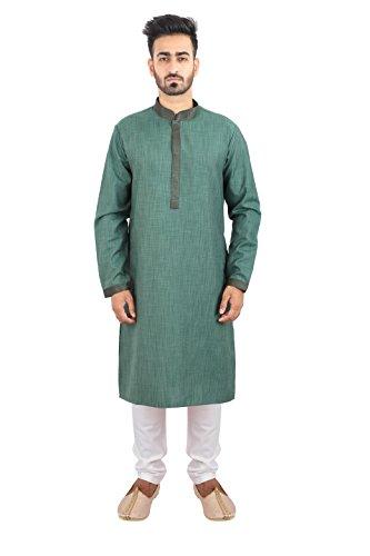 Thaath Men's Ethnic Kurta Pyjama Set with Pintex Embroidery (Eid Collection)