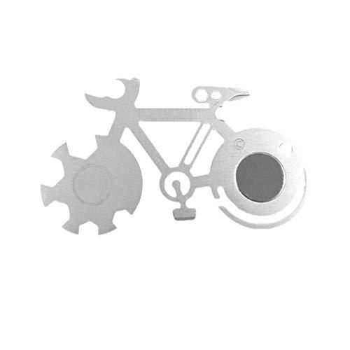 Sunlera Mountain Bike-Werkzeug-Karte Multi-Werkzeug Cutter im Freien Überlebens-Werkzeug-Skala Dosenöffner Schneid Schraubendreher