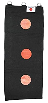 Senshi Japan Wall bag 3 section made of Canvas (BLACK WITH TARGETS) wing chun 3-section bag - cheap UK light shop.