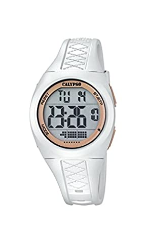 Calypso Unisex Armbanduhr Digitaluhr mit LCD Zifferblatt Digital Display und