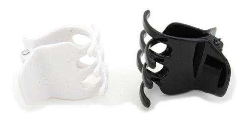 2 Plastic Mini 35mm Claw Clips 1 Black & 1 White by Zest by Zest