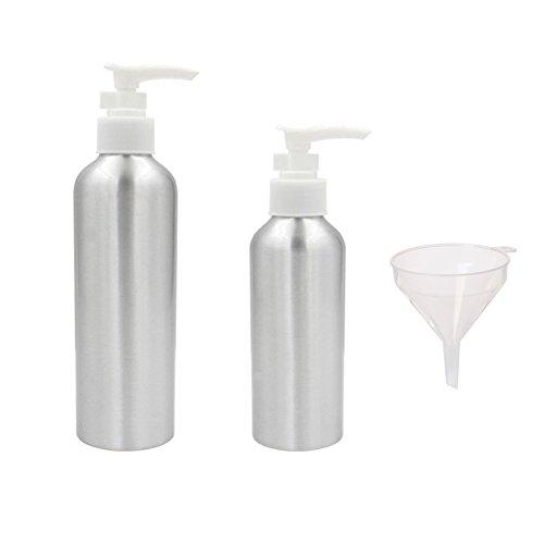 Beauty360 Bouteille vide Kit de voyage Bouteilles de transport aérien Articles de toilette Maquillage cosmétique liquide Contenants Jars en aluminium durable (100ml + 40ml pour Lotion/Crème)