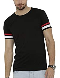 StylePick Men's Half Sleeve Round Neck Solid Cotton Tshirt