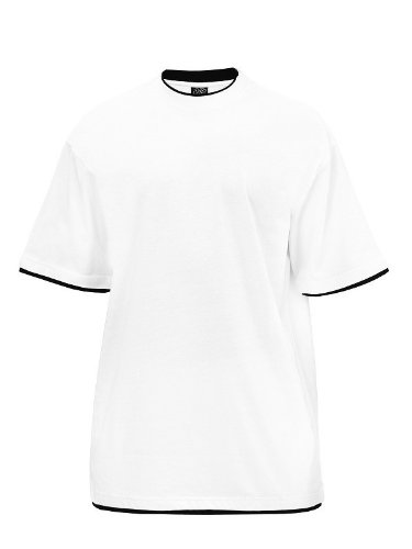 Urban Classics TB029A Herren T-shirt Bekleidung Contrast , Royal/White