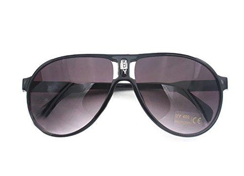 Gespout Sonnenbrille Kinder Sonnenschutz Polarisierte Kunststoffe Glasses für Geschenk Gläser Schulen Studenten Tanzen Shows Ornamente 1pcs Schwarz