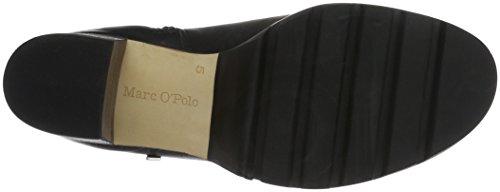Marc O'Polo - Mid Heel Bootie, Stivali bassi con imbottitura leggera Donna Nero (Nero (black 990))