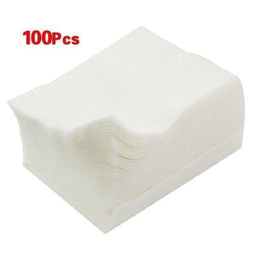 Sourcingmap Lot de 100 cotons à démaquiller Blanc