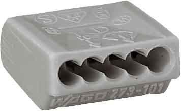 Wago Kontakttechnik Verbindungsdosenklemme 5-leiter 075-15 Qmm 273-101 von WAGO Kontakttechnik