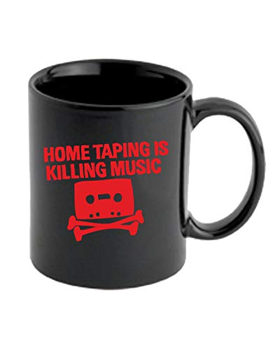 Jr Ringer (T-Shirtshock Tasse 11oz Schwarz FUN1846 Home Taping is Killing Music jr Ringer)