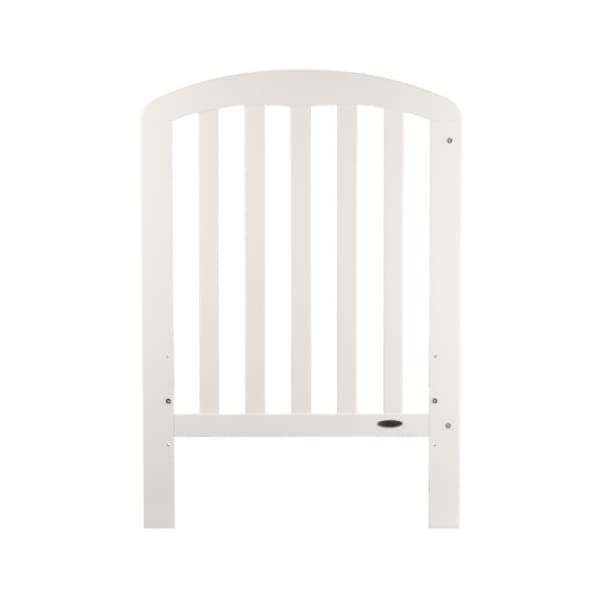 Obaby Lily Cot (White) Obaby Protective teething rails 3 position base height Requires mattress size 120 x 60cm 2
