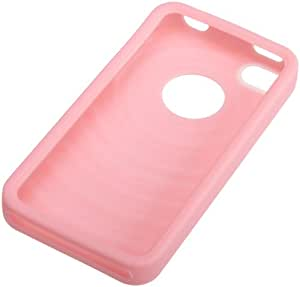 AmazonBasics Silikon-Etui für Apple iPhone 4/4S Pink
