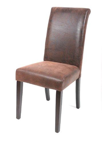 Sedia salotto faggio massiccio wengè/marrone 6018D/97