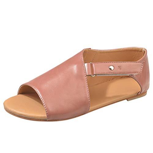 Kaister Damen flach Sandalen Sommer Boho Strandschuhe Schnalle Roma Schuhe Fischmaul Schuhe Leder Peep Toe Shoes schwarz Weiß Rot Bow High Heel Sandale