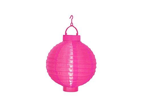 Birne Led Outdoor Laterne (Best Season Solarlampion, 1 Cool Light LED mit Solarpanel inclusive Akku Outdoor, Vierfarb-Karton circa 30 x 20 cm, pink 479-17)