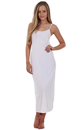 cae6afaad594 Ex Famous Store Ladies Lace Cling Resitant Underskirt Anti Static Petticoat  Full Slip White