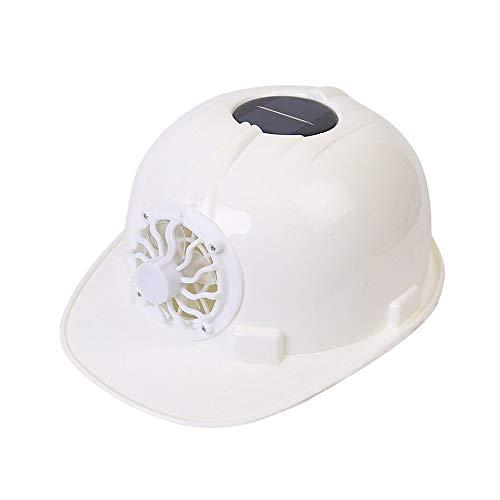 JU FU Helm Schutzhelm - Ventilatorkappen-Arbeiter-Sommerbelüftung Solar mit FanBaustellensonnenblendehutbau @@ (Color : White) - Für Und Mütze Befestigt Frauen Schal