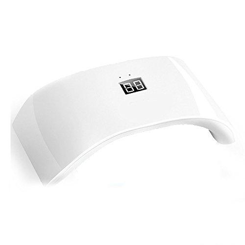 Zarupeng 36W LED Nagellampe mit USB, UV Lampe Nageltrockner für Nagel Gel, Aushärtungslampe Nagel Trockner, LCD Display, 2 Timer (/60s/99s) (One Size, Weiß)