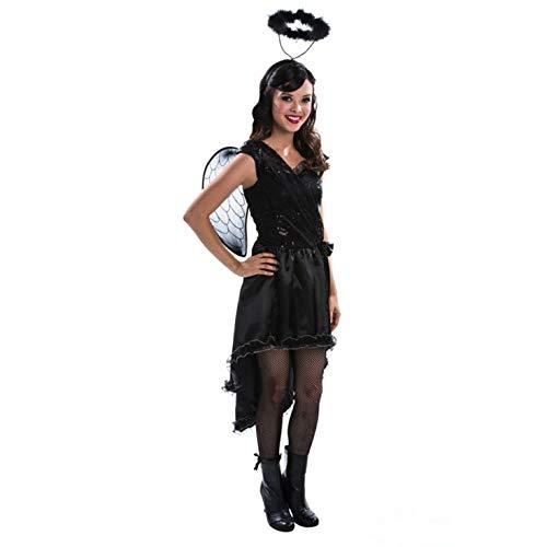 Kid Kostüm Angel Dark - Morph Damen Angel Kostüm, Schwarz, M