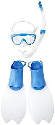 Speedo Junior Glide - Máscara de snorkel y buceo infantil, color azul
