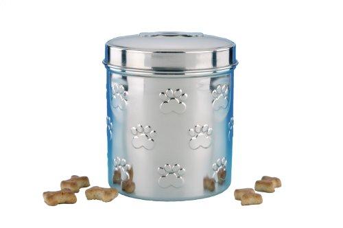 Nobby 79095 Snack-Behälter Edelstahl Set 2 Stück - klein 0,9 l - 12 x Ø 11 cm, groß 1,6 l - 15 x Ø 13 cm