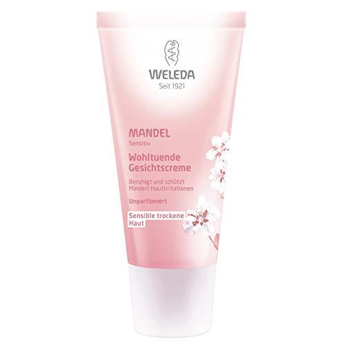 WELEDA Mandel Wohltuende Gesichtscreme, Naturkosmetik Feuchtigkeitscreme zur Pflege trockener, empfindlicher und sensibler Haut im Gesicht und am Hals für einen gesunden Teint (1 x 30 ml) - Weleda Gesichtswasser