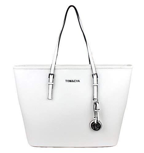 Tom & Eva Jet Set Shopper Weiß mit Silver Anhänger -