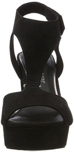 Marco Tozzi 28376, Sandales Bout Ouvert Femme Noir (Black 001)
