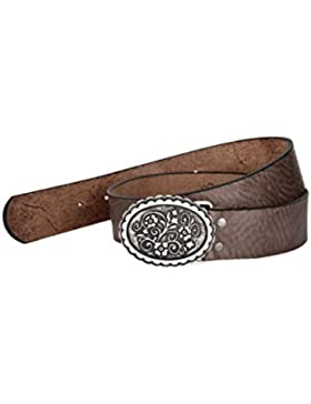 Spieth & Wensky Damen Damen Trachten Ledergürtel Ornament braun, MITTELBRAUN (braun),