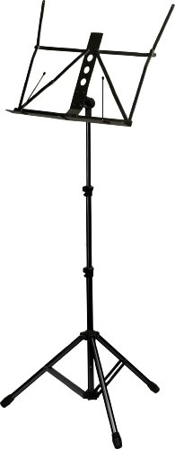 KC aluminum music stand MS-4500J / BK black (with the carrying soft case)
