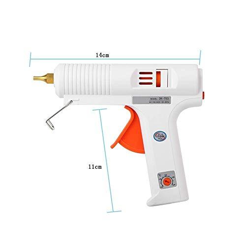 FTVOGUE Pistola per Colla Regolabile a Temperatura costante Riscaldatore Pistola Trigger Flessibile Strumento di Riparazione Artigianale per di stampanti Fai-da-Te e Riparazione Rapida 100W(EU Plug)
