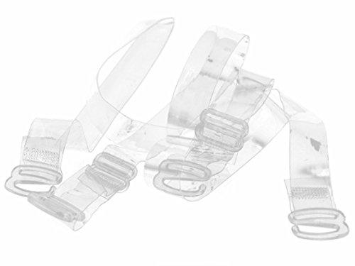WingsLove Damen 3 Paare BH Tr/äger Durchsichtig Unsichtbar Transparent Einstellbar Tr/äger Metaller Haken Ersatztr/äger BH-Tr/äger