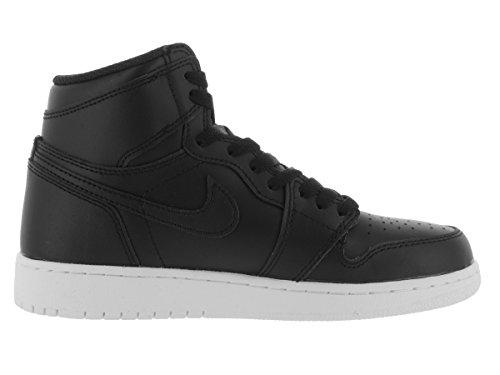 Nike Air Jordan 1 Retro High Og Bg Scarpe Da Basket Bambino Nero Bianco nero Nero-bianco