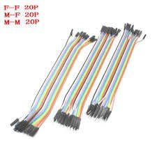 REES52 Dupont Line 60 Pieces 20cm Male to Male + Male to Female and Female to Female Jumper Wire Dupont Cable for Arduino