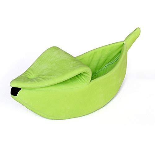 DirkFigge Perro de Mascota Cama de plátano, en Forma de Perrera Suave...